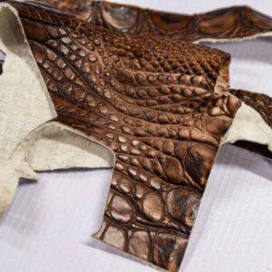 Кожа крокодила, коричнево-коньячная- kr-294