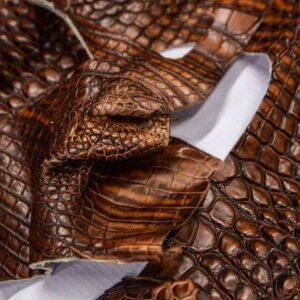 Кожа крокодила, коричнево-коньячная- kr-295