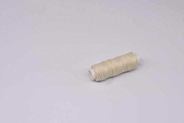 """Нить """"GALACES"""" вощеная круглая 0,65 мм. Молочная-s002"""