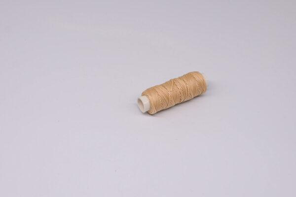 """Нить """"GALACES"""" вощеная круглая 0,65 мм. Кремовая-s005"""