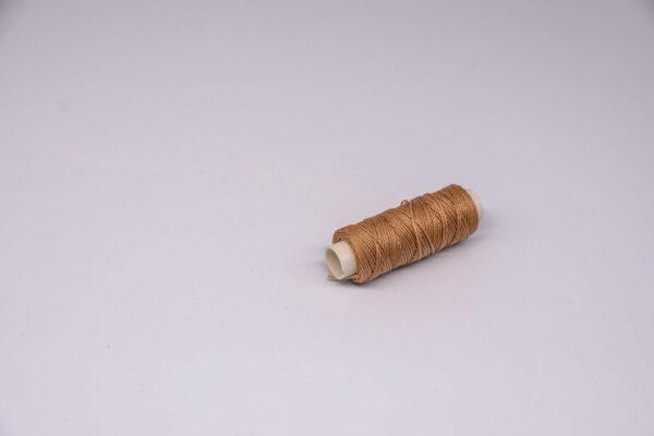 """Нитка """"GALACES"""" воскована кругла 0,65 мм. Світло-коричнева-s018"""