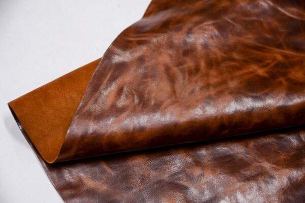 Кожа КРС с эффектом пул ап (Pull Up), коричневая, 100 дм2.-D1-289