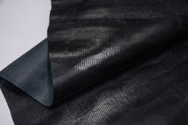Кожа КРС с тиснением под игуану, черная, 151 дм2, SamAnta S.R.L.-109982