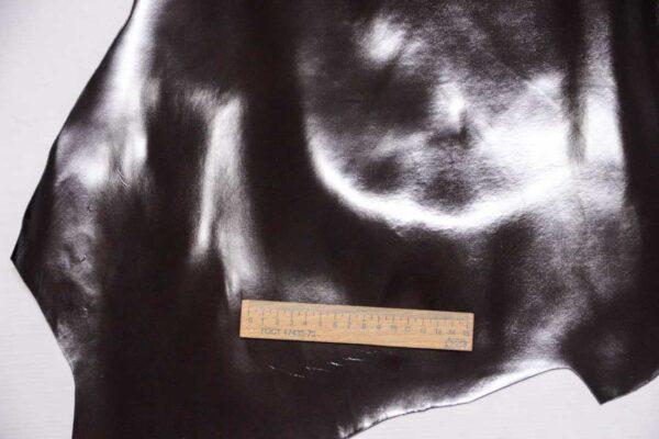 Кожа теленка, матовый лак, темно-коричневая, 70 дм2, Russo di Casandrino S.p.A.-109992
