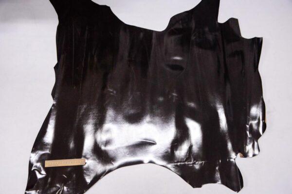 Кожа теленка, матовый лак, темно-коричневая, 76 дм2, Russo di Casandrino S.p.A.-109995
