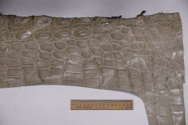Кожа крокодила, светло-серая- kr-297