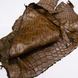 Кожа крокодила, коричнево-горчичная- kr-298