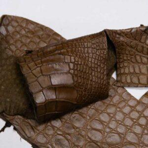 Кожа крокодила, коричнево-горчичная- kr-299