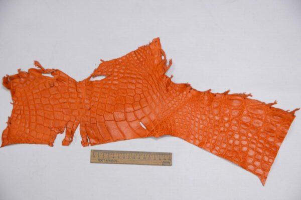 Кожа крокодила, оранжевая- kr-300