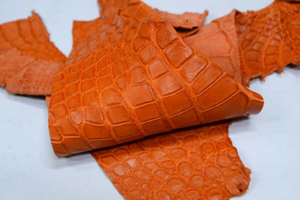 Кожа крокодила, оранжевая- kr-301