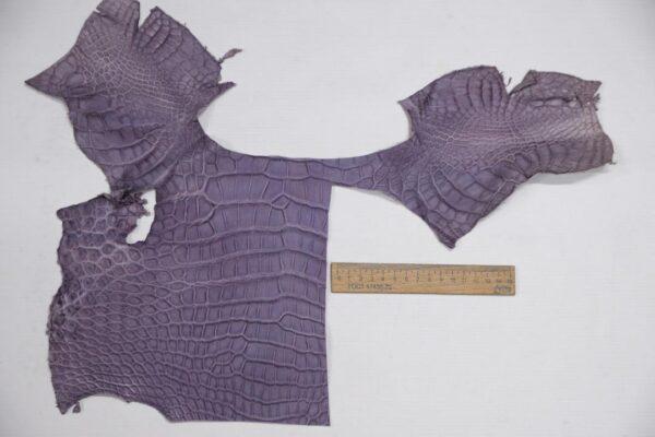 Кожа крокодила, сиреневая- kr-303