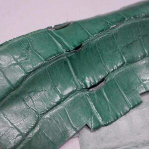 Кожа крокодила, светло-бирюзовая, 30х25 см.- kr-307