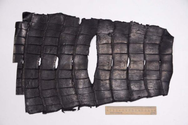 Кожа крокодила, черная- kr-313
