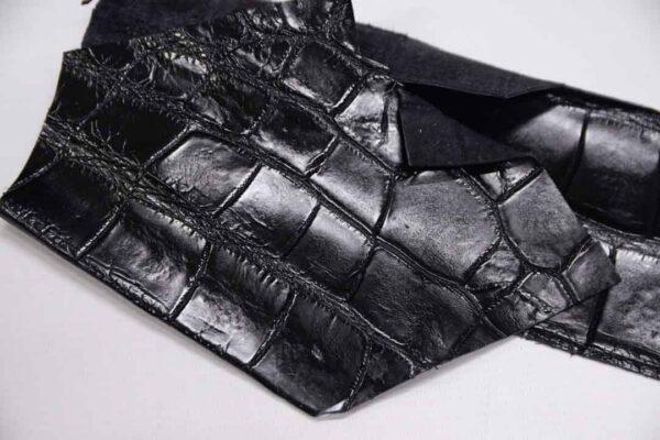 Кожа крокодила, черная- kr-315
