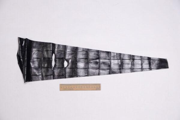 Кожа крокодила, черная- kr-319