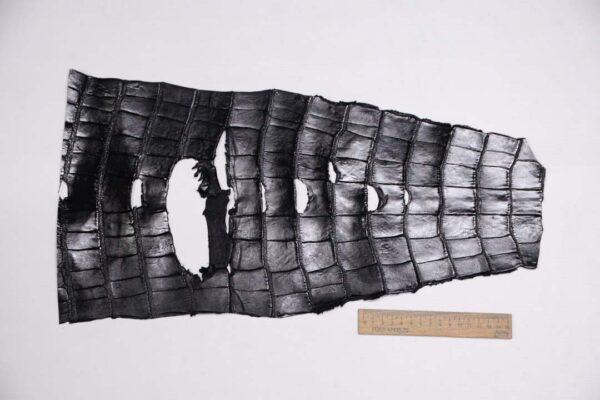 Кожа крокодила, черная- kr-321