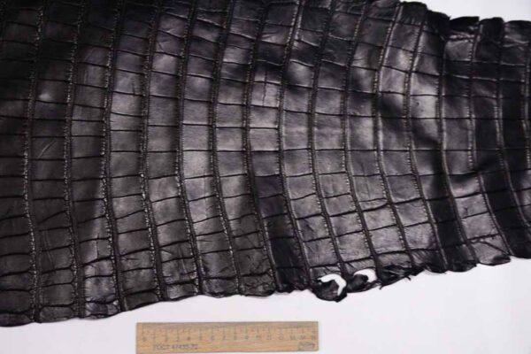 Кожа крокодила, черная, 82х35 см.- kr-335