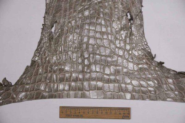 Кожа крокодила, серая- kr-345
