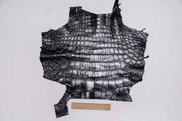 Кожа крокодила, черная- kr-349