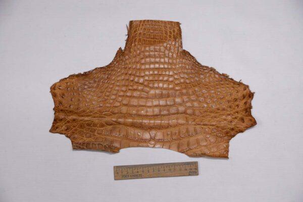 Кожа крокодила, светло-коричневая- kr-351