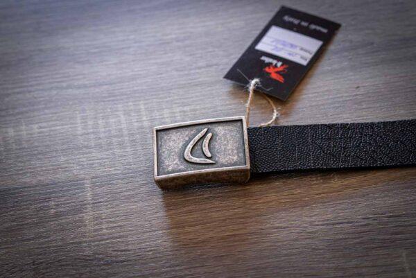 Мужской темно-коричневый кожаный ремень rm-018 (126/111/3,8)
