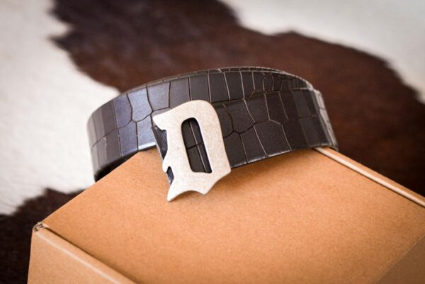 Мужской темно-коричневый кожаный ремень rm-003 (127/112/4)