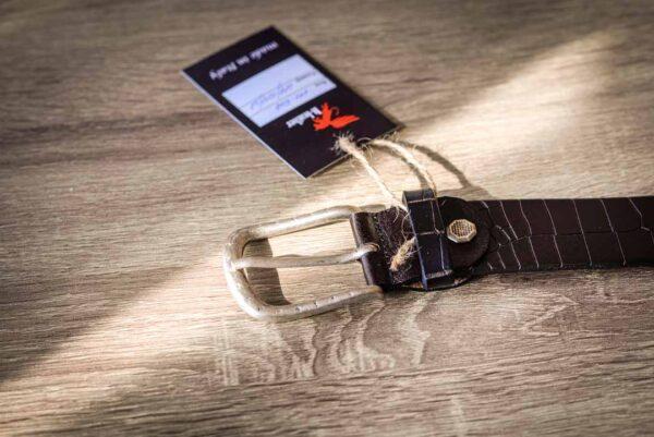 Мужской темно-коричневый кожаный ремень rm-007 (114/104/3,8)