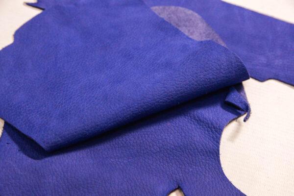Нубук КРС, синий, 19 дм2.-1-477