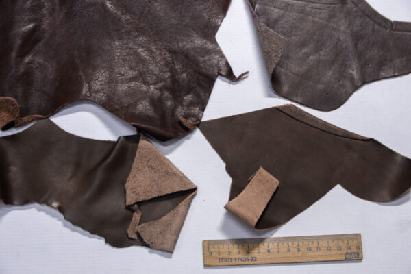 Кожа КРС, коричневый микс, 15 дм2.-1-490