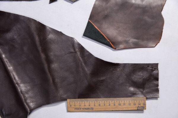 Кожа КРС, коричневый микс, 12 дм2.-1-491