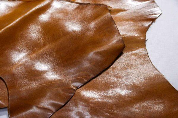 Кожа КРС с эффектом пул ап (Pull Up), коричневая, 10 дм2.-1-498