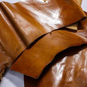Кожа КРС с эффектом пул ап (Pull Up), коричневая, 11 дм2.-1-499