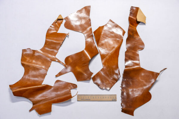 Кожа КРС с эффектом пул ап (Pull Up), коричневая, 14 дм2.-1-500
