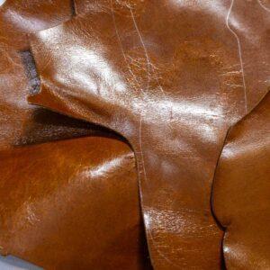 Кожа КРС с эффектом пул ап (Pull Up), коричневая, 14 дм2.-1-502