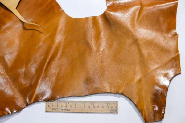 Кожа КРС с эффектом пул ап (Pull Up), коричневая, 12 дм2.-1-505