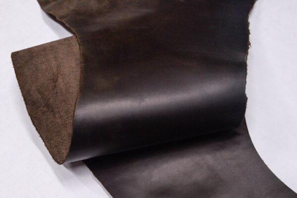 Кожа КРС крейзи хорс (Crazy Horse) с эффектом пул ап (Pull Up), темно-коричневая, 45 дм2.-D1-321