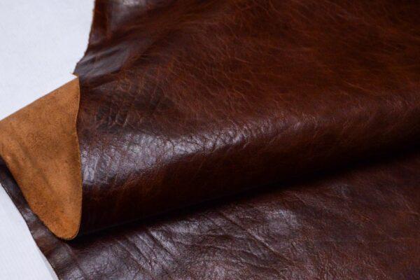 Кожа КРС с эффектом пул ап (Pull Up), коричнево-коньячная, 100 дм2.-D1-335