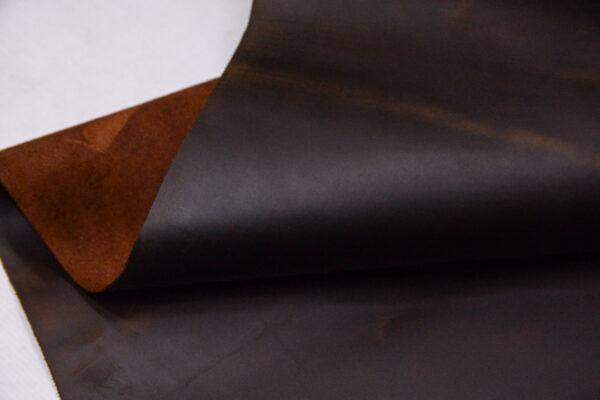 Кожа КРС крейзи хорс (Crazy Horse) с эффектом пул ап (Pull Up), коричневая, 184 дм2.-D1-397