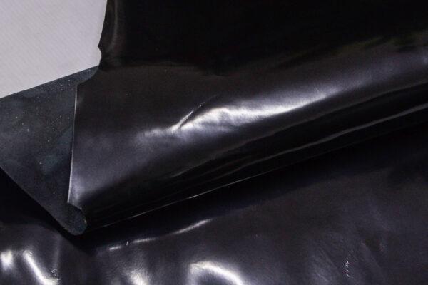Лаковая кожа теленка, черная, 63 дм2.-110015
