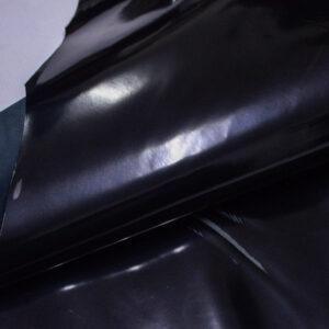 Лаковая кожа теленка, черная, 65 дм2.-110019