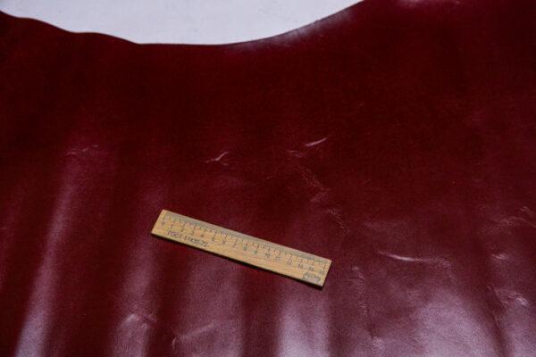 Кожа КРС сафьяно (Saffiano), марсала, 103 дм2.-110027