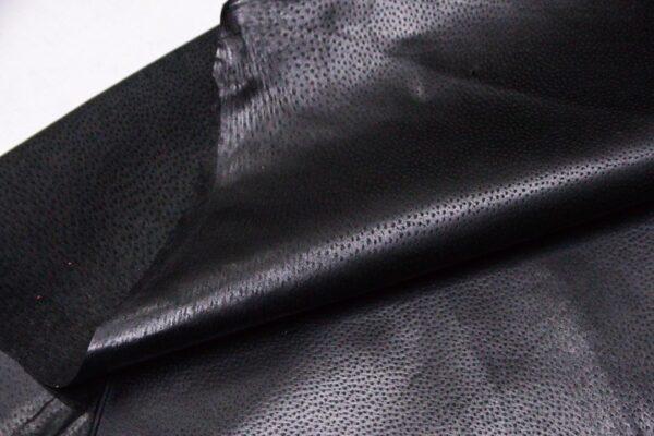 Кожподклад свиной (спилок) вощёный, черный, 58 дм2.-PT1-120