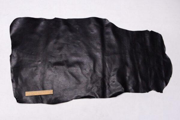 Кожподклад свиной (спилок) вощёный, черный, 47 дм2.-PT1-123