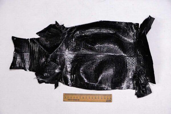 Кожа игуаны, черная, 47х24 см.- ign-005
