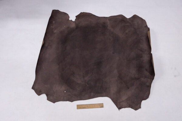 Кожа теленка с восковым покрытием, какао с разводами, 50 дм2.-110037