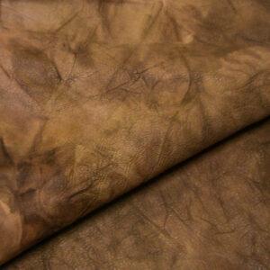 Кожа теленка растительного дубления, жатка, бежевая, 63 дм2.-110039