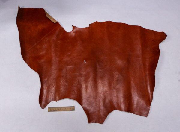 Кожа КРС растительного дубления, коньячная, 54 дм2.-110042