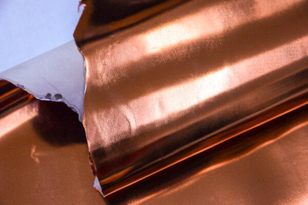 Лаковая кожа теленка, медная, 59 дм2, Conceria Stefania S. p. A.-110045