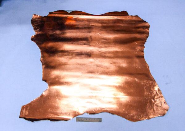 Лаковая кожа теленка, медная, 65 дм2, Conceria Stefania S. p. A.-110046