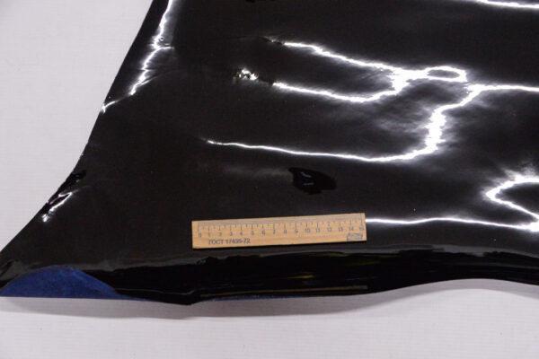 Лаковая кожа теленка, черная, 71 дм2.-110054